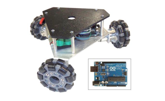 SuperDroid Robots IG32 DM Triangular Omni Wheel Triangular Vectoring Robot